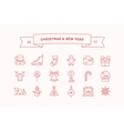 Set of icons for Christmas and New Year vector image