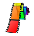 colorful film vector image