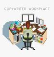copywriter workplace writer at work vector image