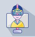 3d eyeglasses virtual experience game vector image
