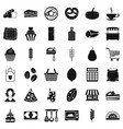 bakery cooking icons set simple style vector image