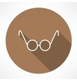 round glasses icon vector image vector image