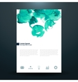 Watercolor business template with circles vector image