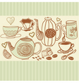Hand drawn tea and coffee vector image