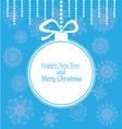 Christmas ball postcard vector image vector image