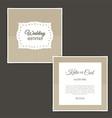 vintage wedding invitation 0502 vector image vector image