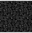 Houses Pattern Black White vector image