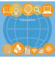 Education E-Learning Icons Background vector image
