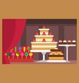 flat design restaurant food shop facade vector image