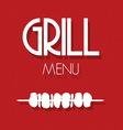 grill menu1 vector image