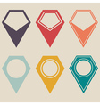 map marker set vector image