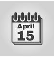 The Calendar 15 april icon Tax day vector image