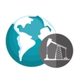 earth planet and petroleum icon vector image