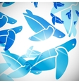 abstract background turtle vector image