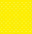 tile pattern with white polka dots on yellow vector image