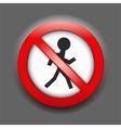 No Entry Sign vector image vector image