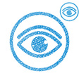 Eye simple single color icon isolated on white vector image