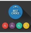 Flat sale discount Best Choice labels with long vector image