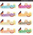Oktoberfest titles vector image
