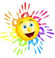 Sun hand prints vector image vector image