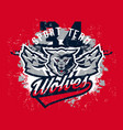 design for printing on t-shirts aggressive wolf vector image