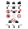 Human management icons set vector image