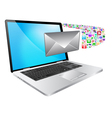 Laptop and message vector image