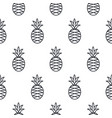 pineapple line icon seamless pattern vector image