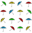 Seamless pattern of colorful umbrellas background vector image