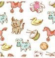 Toys background seamless pattern for children vector image