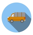 Truck car icon flat style vector image