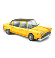 yellow vintage car high detailed image of retro vector image