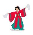 Eastern Dancer Isolated Folk Dance Concept vector image