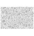 Line art doodle cartoon set of Electric vector image