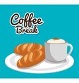 delicious coffee break icon vector image