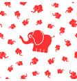 elephants seamless pattern vector image