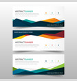 abstract colorful polygonal banner template vector image