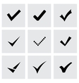 black confirm icon set vector image