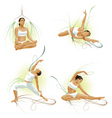 yoga poses vector image vector image