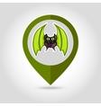 Halloween Bat mapping pin icon vector image