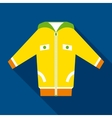 Yellow Jacket in Flat Style vector image