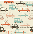 transport vintage background vector image vector image