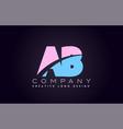 ab alphabet letter join joined letter logo design vector image