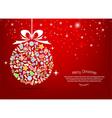 christmas tree icon for christmas card vector image