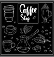 coffee shop hand lettering design for menu poster vector image