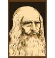 Leonardo da Vinci Self-Portrait 1512 vector image