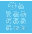 Search engine - seo doodle concept vector image