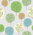 Trees seamless pattern Trees with colored foliage vector image