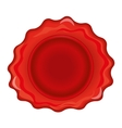 Wax stamp template vector image