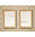 Vintage gold picture frame vector image vector image